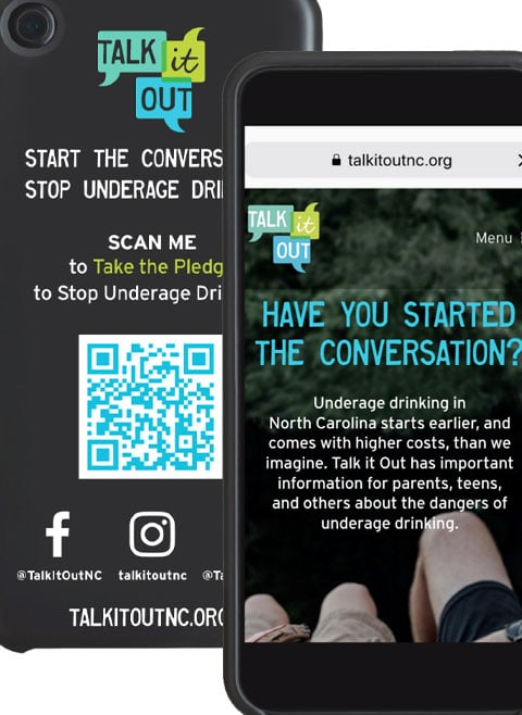 Digital pledge card for parents and teens